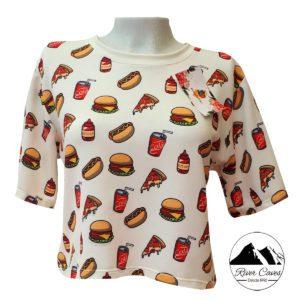 camiseta comida rapida