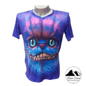 camiseta gato chesire