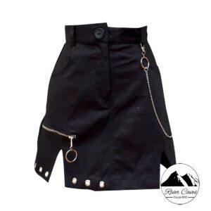 falda con cadenas